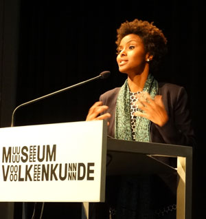 Delivering Annual Lecture of the Leiden African Studies Association