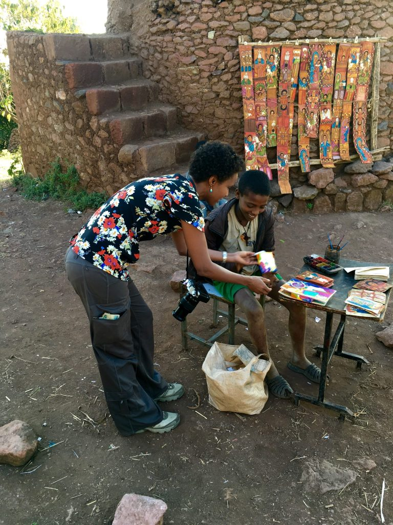 A little present for a young Ethiopian artist at Lalibela