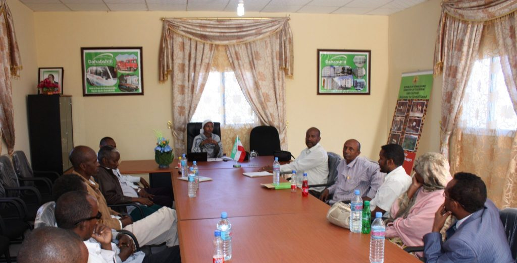 Dr Sada Mire holds a meeting for the Heads of Secondary Schools in Somaliland to discuss the inclusion of a cultural heritage and archaeology chapters in the Secondary school curriculum, 2011