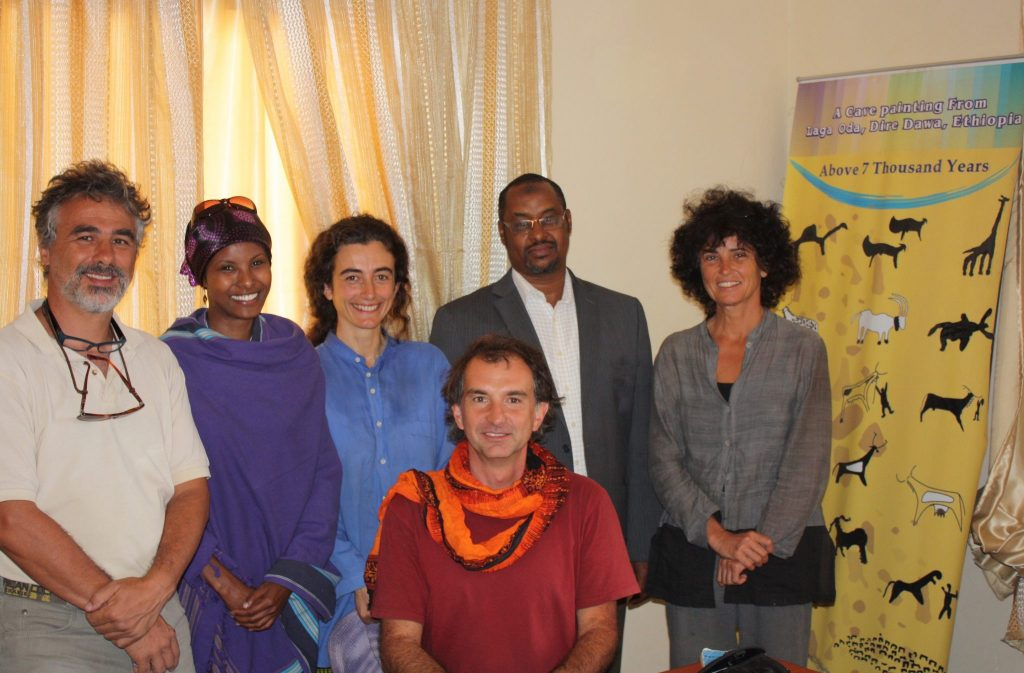 Dr Sada Mire receives a European Commission delegation at her office in Hargeisa to promote Somaliland tourism, September, 2011