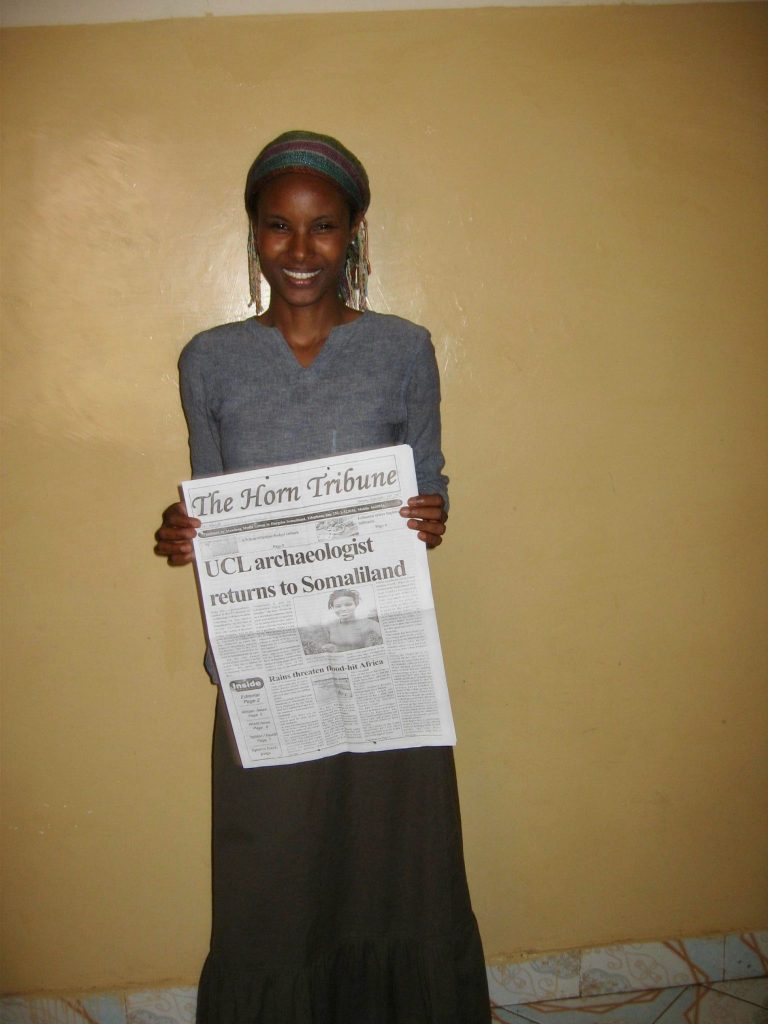 Sada Mire discovers Somaliland's Horn Tribune picked up on UCL news, September, 2007