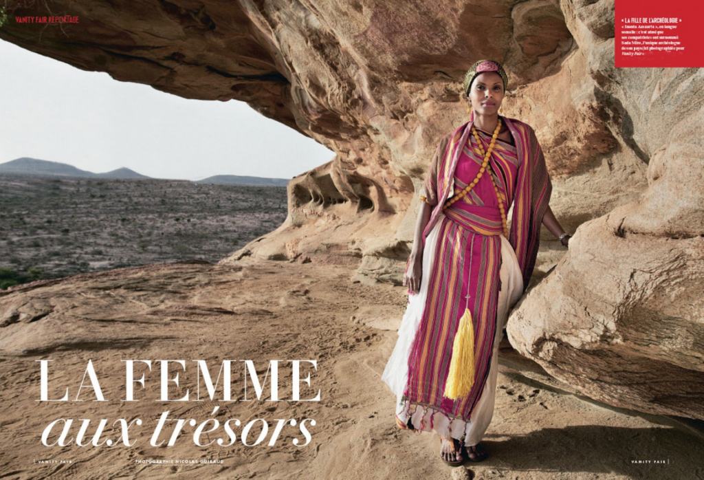 Vanity Fair reportage on Sada Mire (photo: Nicolas Guiraud)