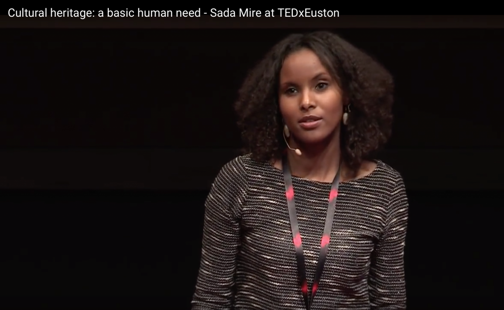 Sada Mire speaking at TEDxEuston