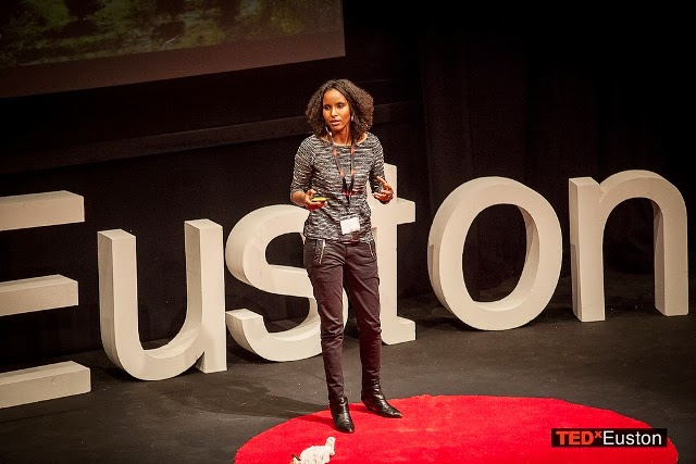 Dr Sada Mire delivering her TEDxTalk at TEDxEuston 2013 : 'Cultural Heritage: a Basic Human Need', London, 2013