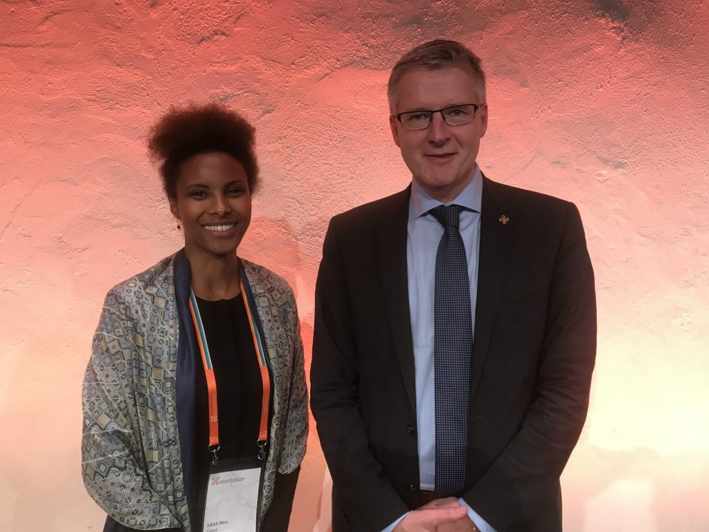 Sada Mire with the Director General of the Swedish National Heritage Board, Lars.Amreus, after her keynote for the annual meeting, November, 2018.