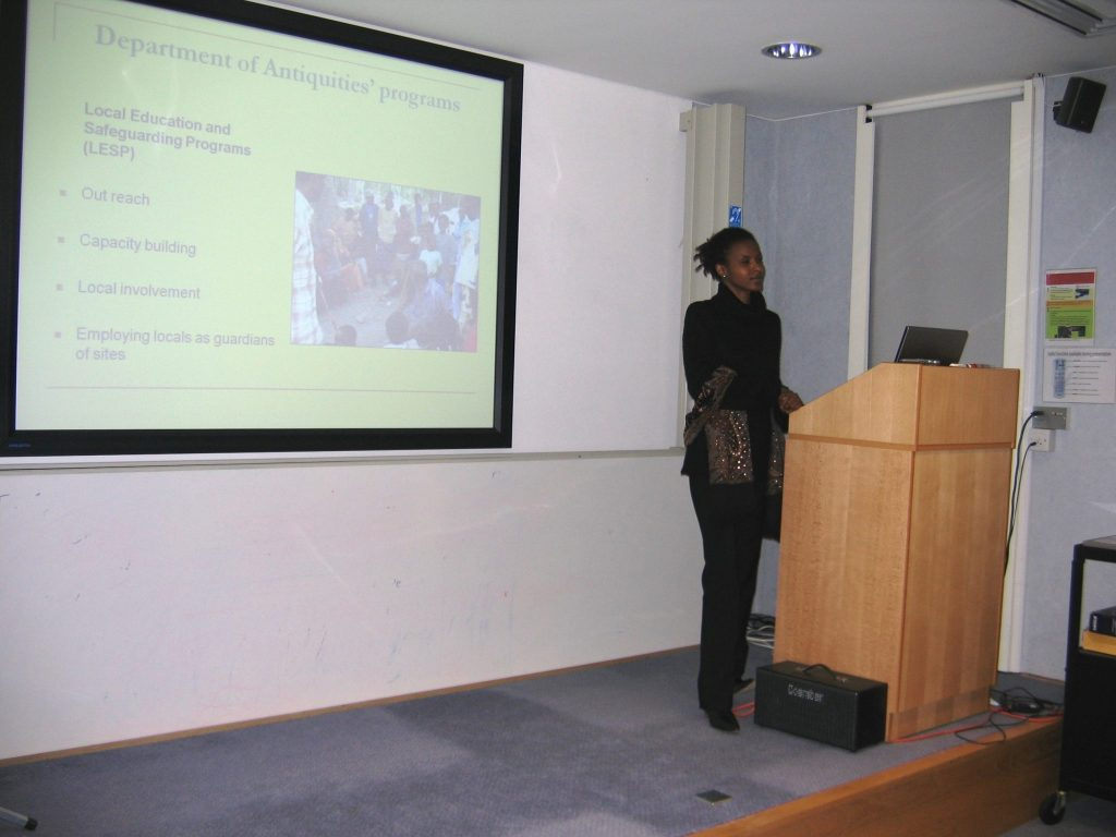 Sada Mire gives a public lecture at Cambridge University, 2008