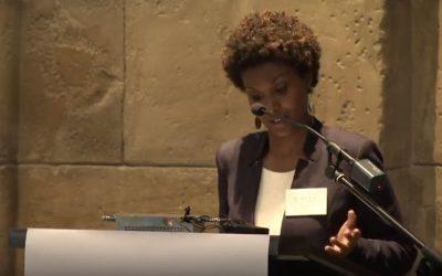 Sada Mire debates with philosopher Stephan Sanders in Dutch UNESCO 1st debate