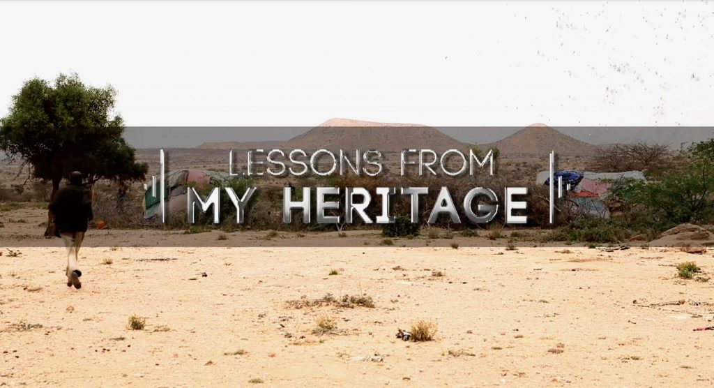 Sada Mire presenting the documentary 'Lessons from my Heritage' for China Global Television Networks 2018