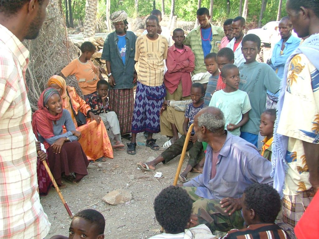 Sada Mire with one of favourite communities in Somaliland: God Biyo Cas community, Sanaag, 2007.