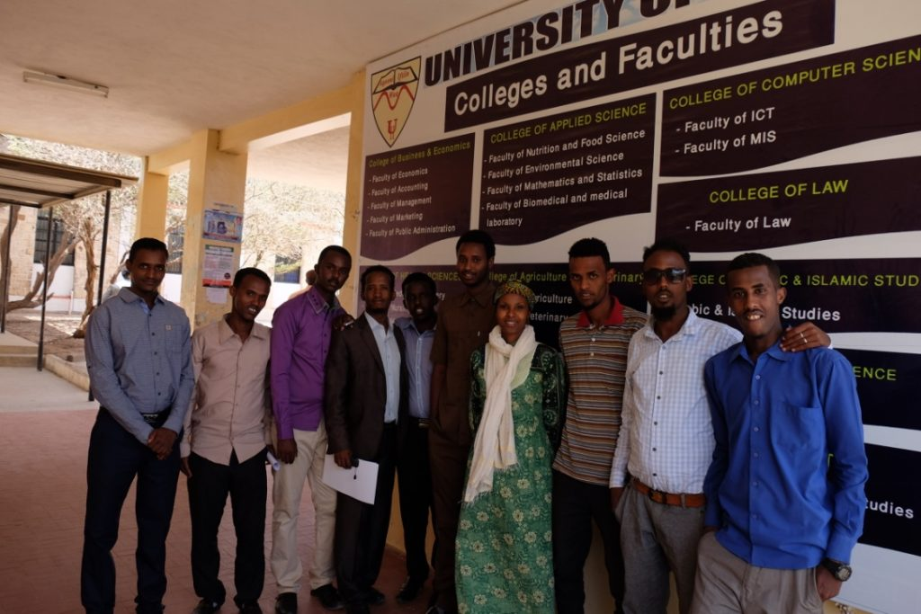 Dr Sada Mire meeting the students of Hargeisa University, 2015
