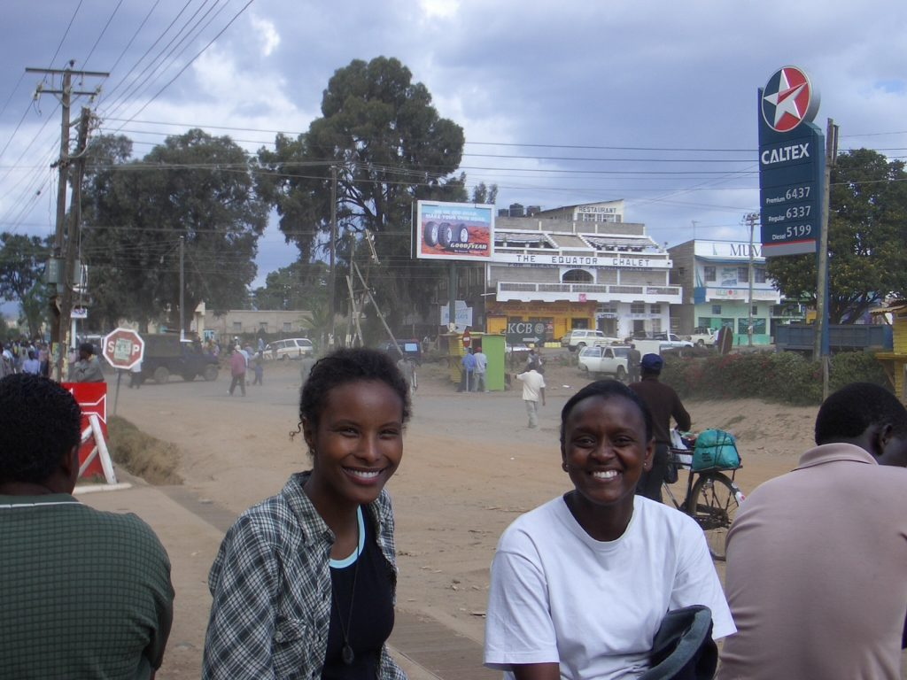 Sada Mire with friend Laura Mbithi, Nanyuki, Kenya (photo by Arturo Rey Da Silva)