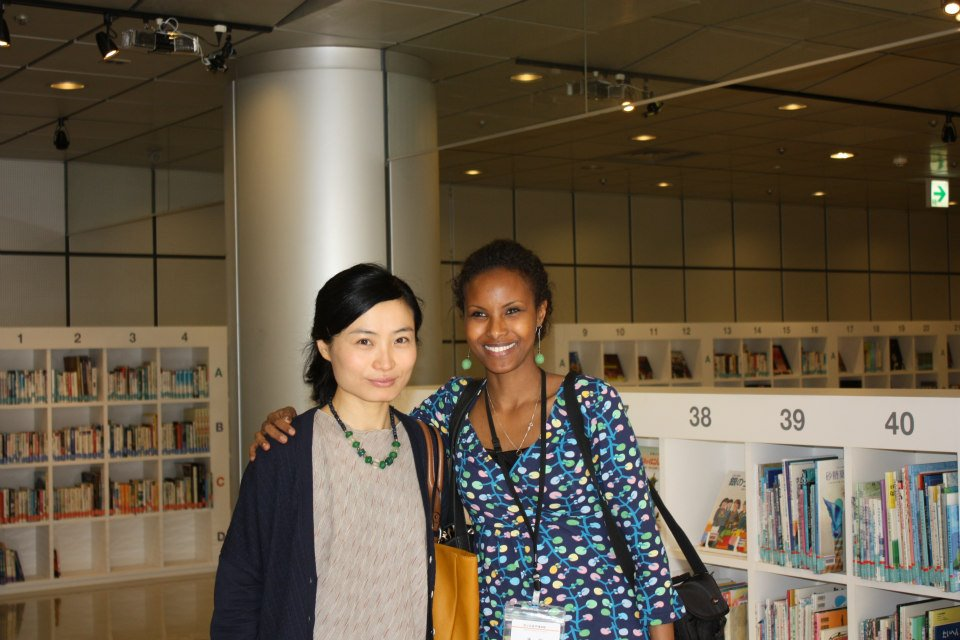 Sada Mire with friend and colleague Dr Shirabe Ogata  at the 2014 Anthropology Congress in Chiba, Japan