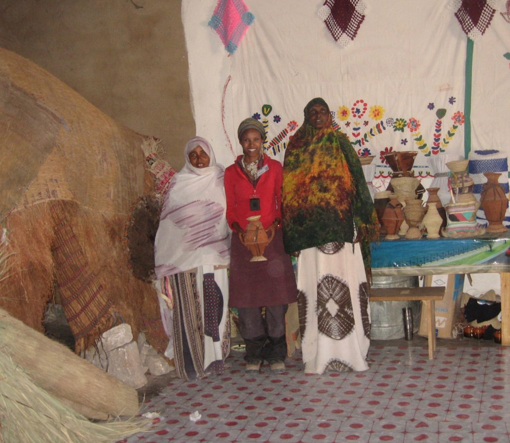 Sada Mire investigates cultural production of Sanaag region with local women leaders and cultural experts, Eerigaabo cultural centre, Somaliland, 2007.