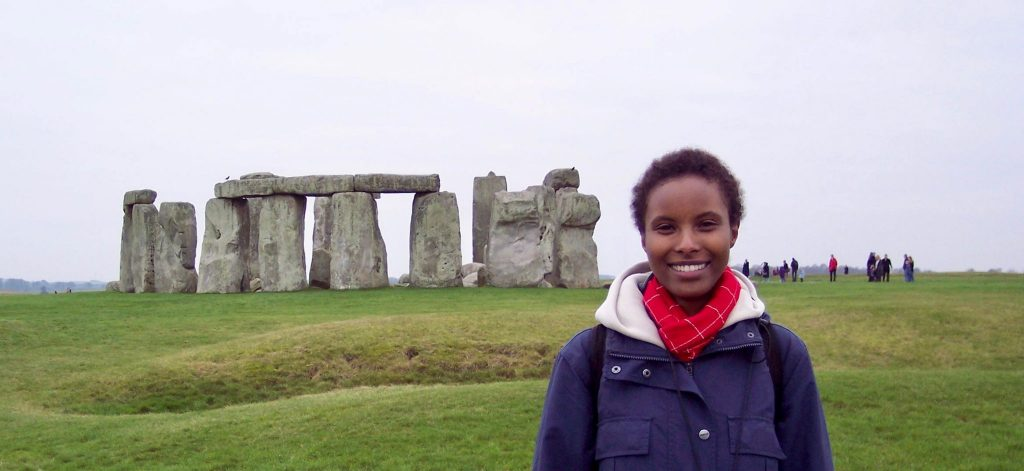 Sada Mire visits the World Heritage Site of Stonehenge, UK, with her colleagues at UCL's Institute of Archaeology