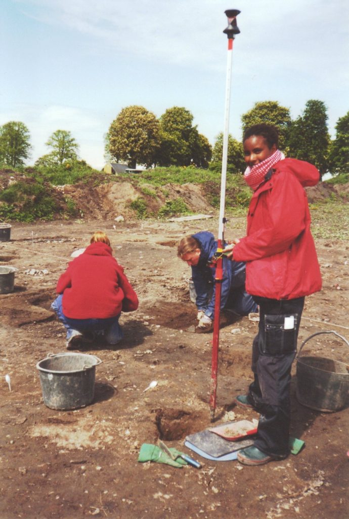 Excavating at Uppakra, Sweden